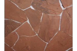 Камень обожженный красный 1,5 см, м2