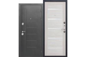 Входная дверь 10 см Троя Серебро Лиственница беж