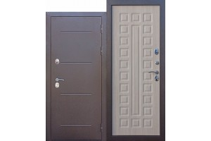 Входная дверь c ТЕРМОРАЗРЫВОМ 11 см Isoterma медный антик Лиственница мокко